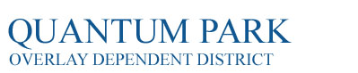 Quantum Park Overlay Dependent District Logo